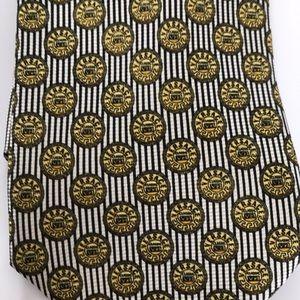 Versace classic V2 vintage tie gold stripes